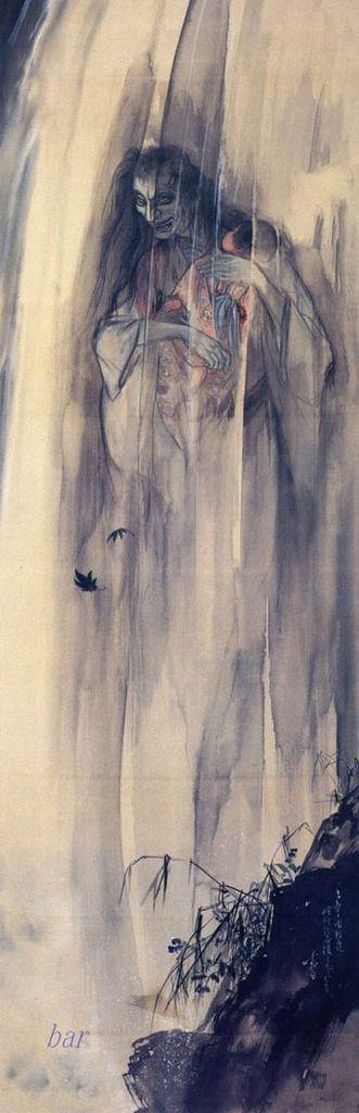 伊藤晴雨「怪談乳房榎図」 (後期展示)明治~昭和時代(20世紀) 絹本着色