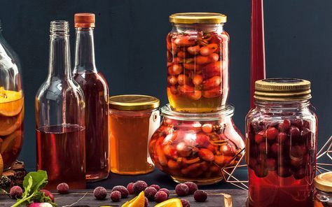 Make a fascinating pale pink gin for Christmas with seasonal cranberries