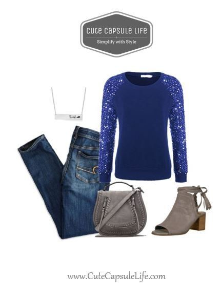 Sequin sleeve top, skinny jeans, Rebecca minkoff purse and Sam Edelman Booties