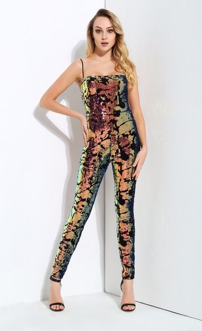 b4af20d8390 Multi Color Sequin Jumpsuit from somethingshelikes ...