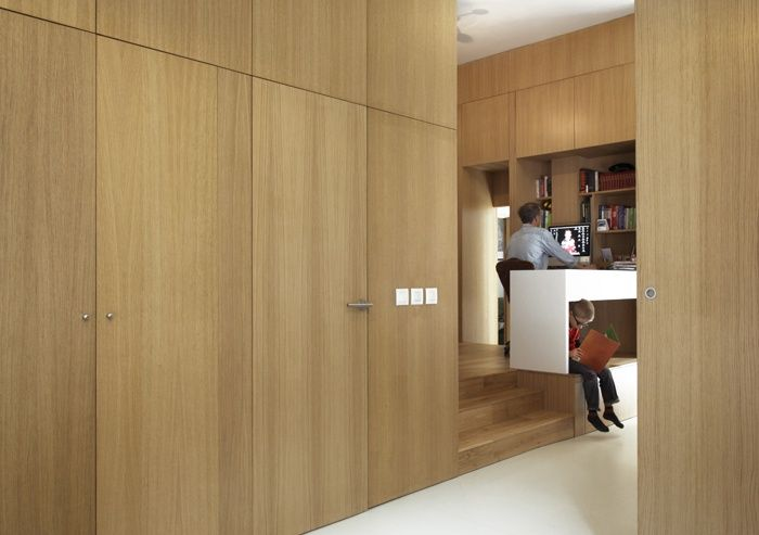placard + portes invisibles + bois