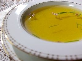 Chicken Consomme with Snipped Herbs : Recipes : Cooking Channel