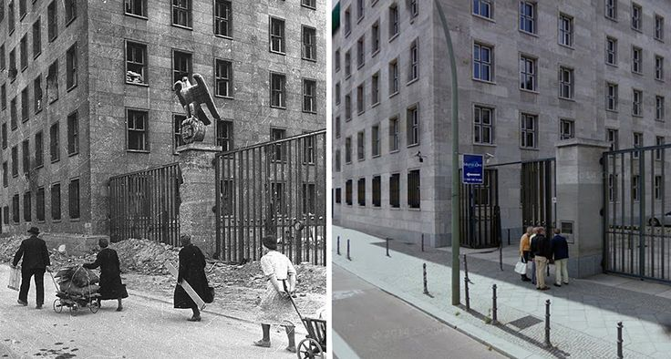 Das Reichsluftfahrtministerium (The Ministry of Aviation) 1945/2016. A government department during the period of Nazi Germany located on Wilhelmstrasse 97. Today it houses Das Bundesministerium der Finanzen (The Federal Ministry of Finance).