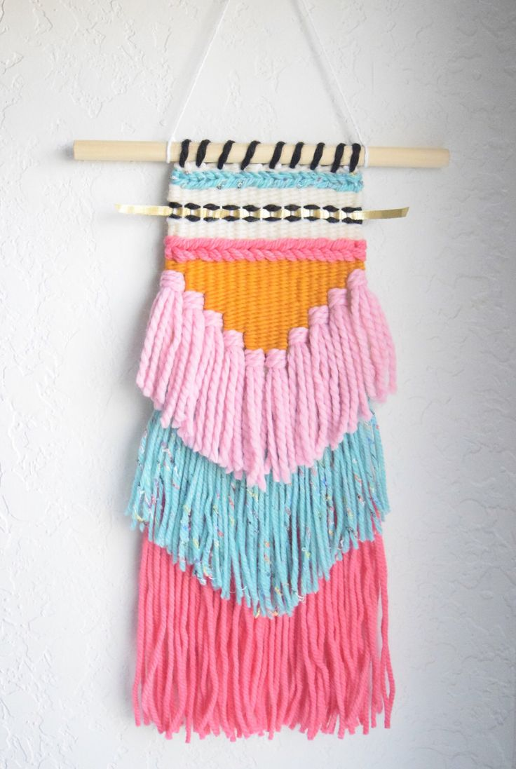 1000 Ideas About Yarn Wall Hanging On Pinterest Wall