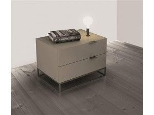 Clarity Taupe Gray Contemporary Nightstands