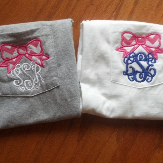 Bow Monogram TShirt... this is stupid cute!