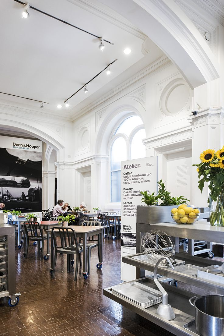 office cafeteria design enchanting model paint. Kitchen Tools On Display And Movable Stainless Steel Cafe Tables At Atelier The Royal Office Cafeteria Design Enchanting Model Paint E
