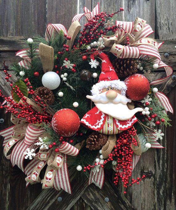 Christmas Wreath Rustic Christmas Wreath Snowman by BaBamWreaths