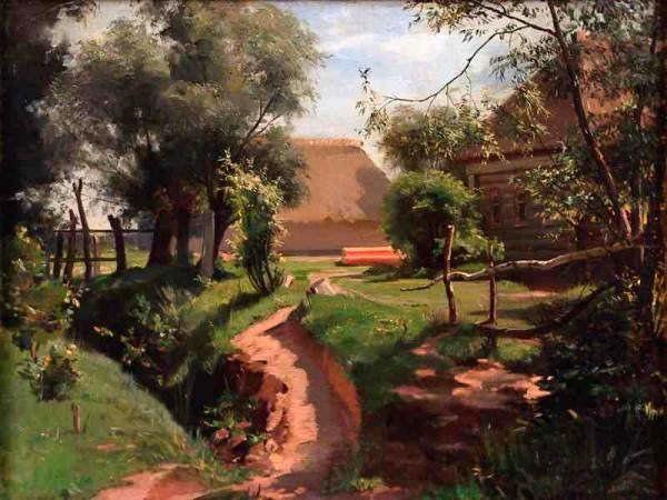 Illarion Pryanishnikov (Russian, 1840-1894)  'Backyard', 1880