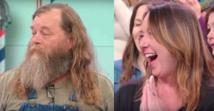 Hairy Husband Gets First Shave In Decades And His Wife Barely Recognises Him.