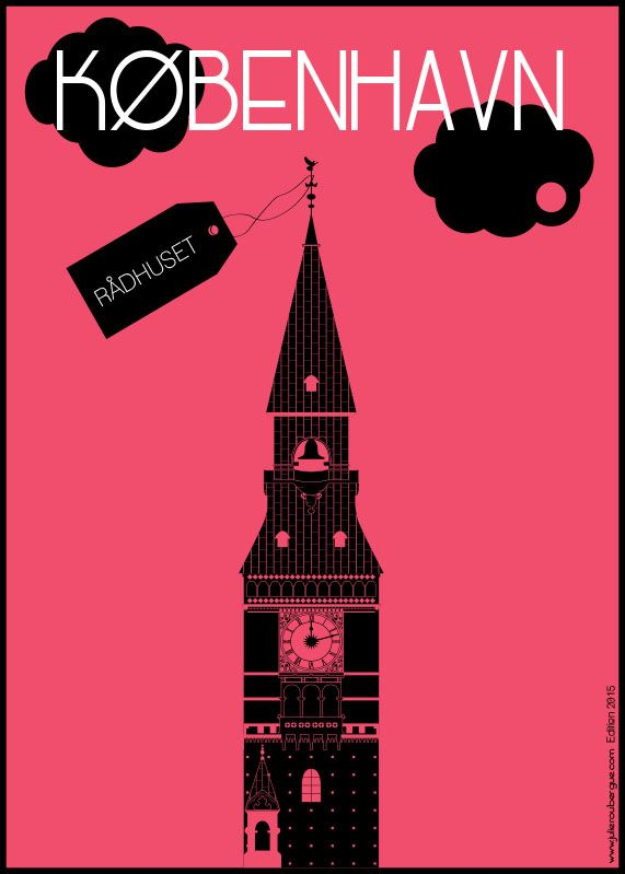 Rådhuset Magenta - Poster 50x70cm or 30x40cm