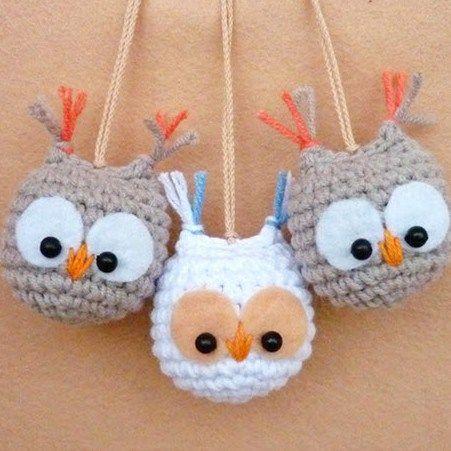 owl keychain crochet pattern free
