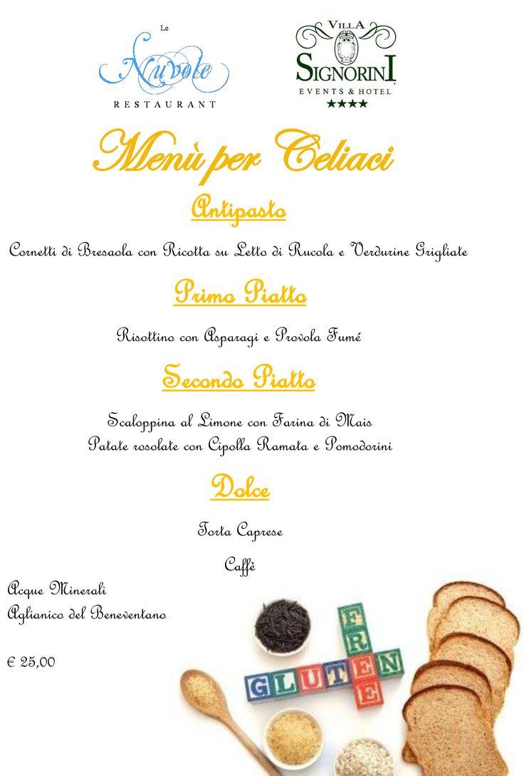 Scopri il Menù Gluten Free del Nostro Ristorante!!!