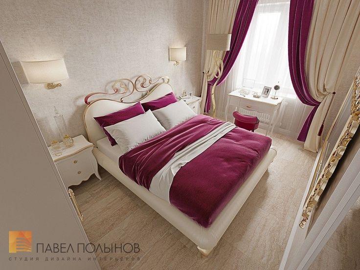 Фото дизайн интерьера спальни из проекта «Трехкомнатная квартира в Пушкине в стиле легкой классики, 73 кв.м.»