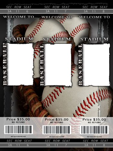 blank baseball ticket template | Staging your home before ...