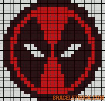 Deadpool Marvel perler bead pattern.... I could totally use that as a cross stitch our quilt grid...