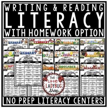 Literacy Centers- 3rd Grade, 4th Grade, 5th Grade & Homewo