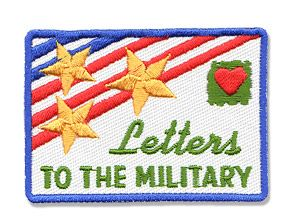 AHG Activity Patches: Letters to the Military Service Patch