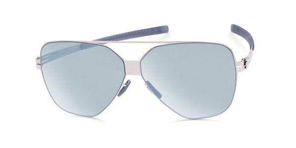 Ic! Berlin M1317 Harry S. Chrome - Teal Mirror Sunglasses