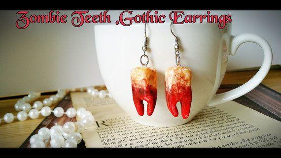 Check out this item in my Etsy shop https://www.etsy.com/au/listing/293854387/creepy-cute-fake-zombie-teethhorrorteeth