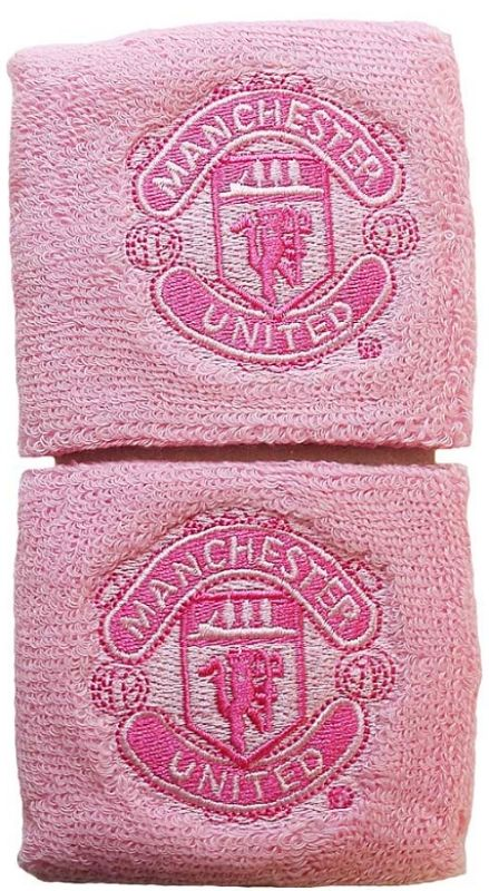 Manchester United Pink Wristbands with Club Crest