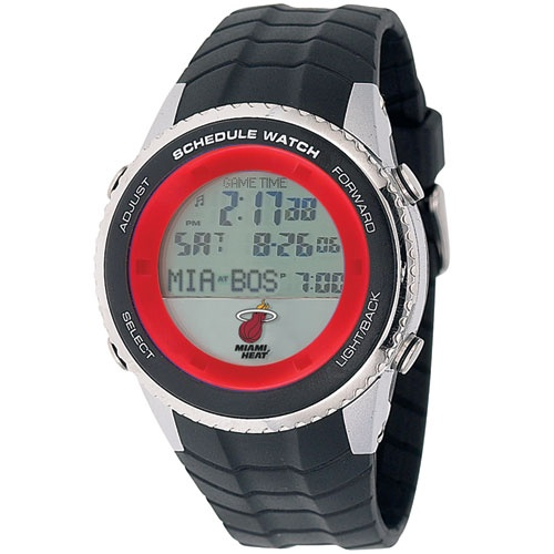Miami Heat Schedule Watch by Game Time, only $99.95 @ MyTeamBling.com. Great for the Heat fan that doesn't want to miss their next game.  http://www.myteambling.com/miami-heat-schedule-watch.html #miamiheat #miamiheatwatches #miamiheatsportswatch #miamiheatschedulewatch