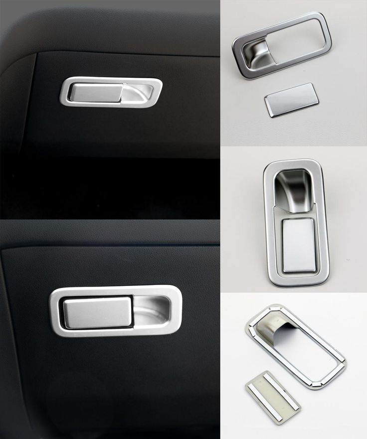[Visit to Buy] ABS Chrome Car Styling Co Pilot Position Storage Box Switch Cover Decoration Sticker For Kia Sportage 2016 2017 Auto Accessories #Advertisement