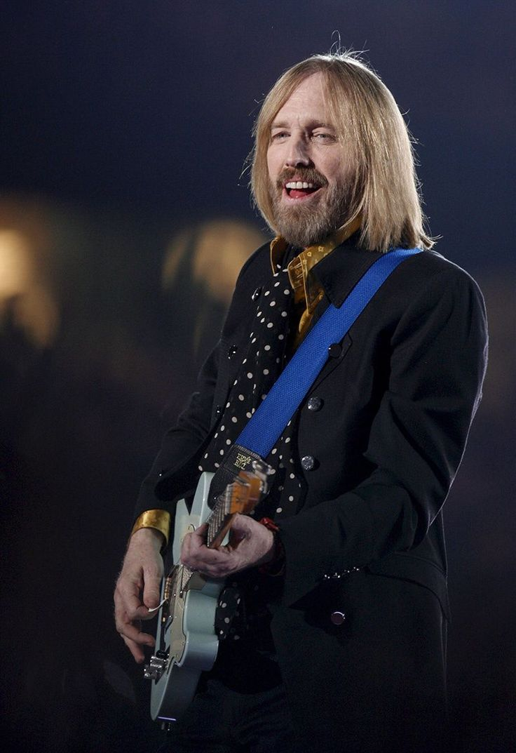 Tom Petty performing during the Halftime Show of Super Bowl Xl at the University of Phoenix Stadium in Glendale, Arizona on February 3, 2008.