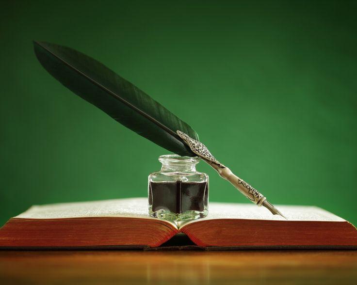 Скачать обои книга, перо, чернила, раздел разное в разрешении 1280x1024