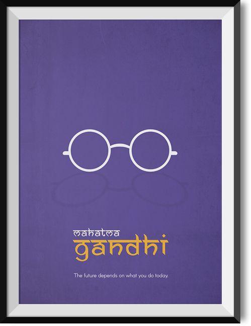"""Gandhi """"Future"""" quote poster"""