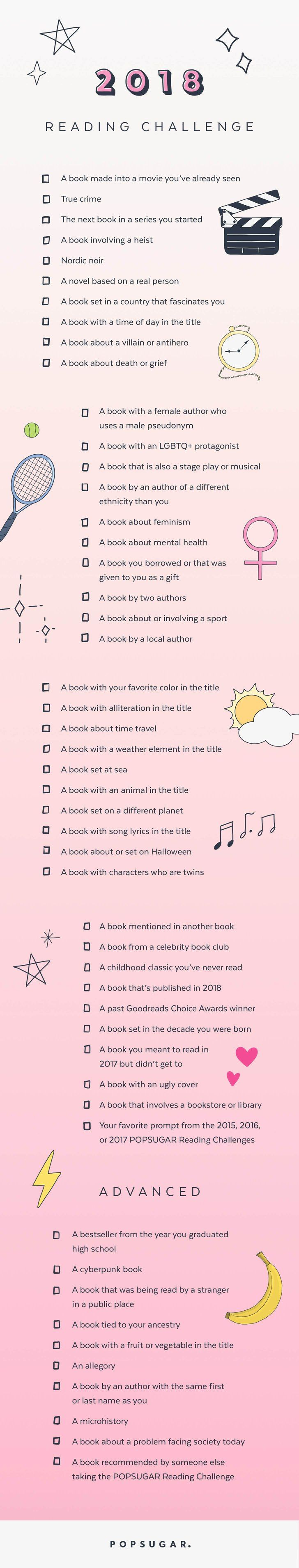 The 2018 POPSUGAR Reading Challenge Is Here!