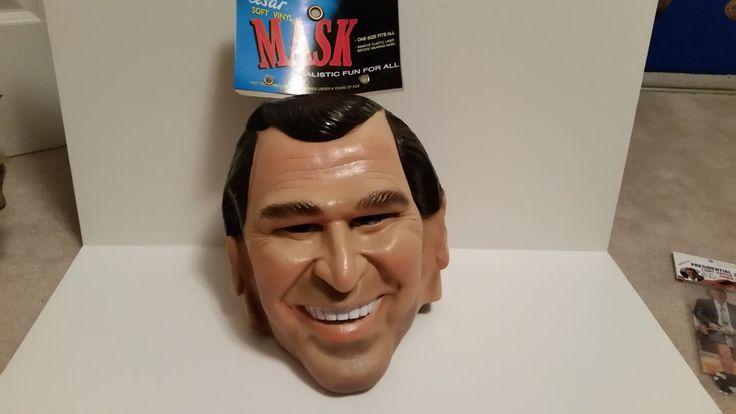George W. Bush One Size Fits All Soft Vinyl Mask. Realistic, Halloween Mask