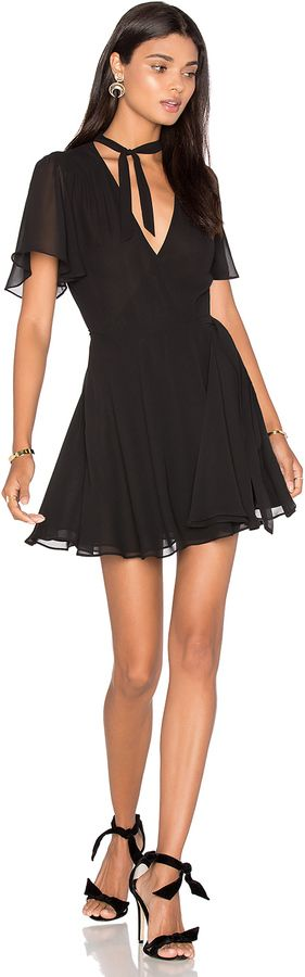 LPA Dress 8  Romanticizing a gorgeous dark tone and flutter sleeves gets effortless  affiliate link