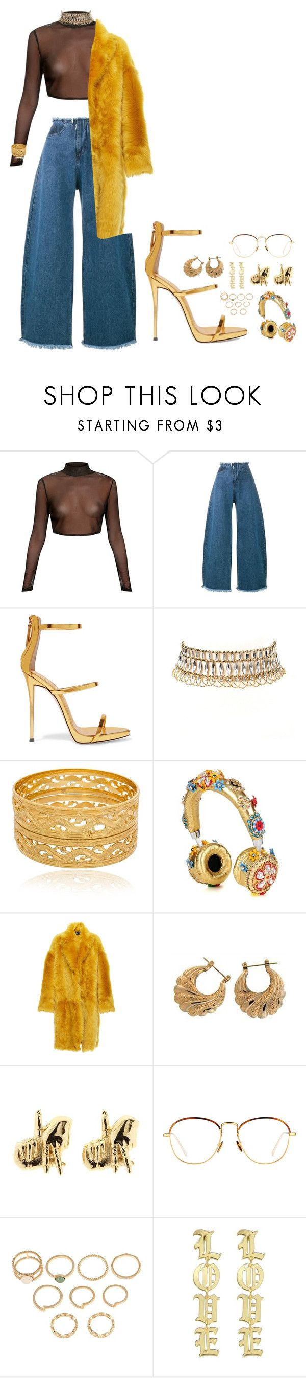 """Boujiee Casual."" by chanatelliii ❤ liked on Polyvore featuring Marques'Almeida, Giuseppe Zanotti, Amrita Singh, Dolce&Gabbana, Rochas, Han Cholo and Linda Farrow"