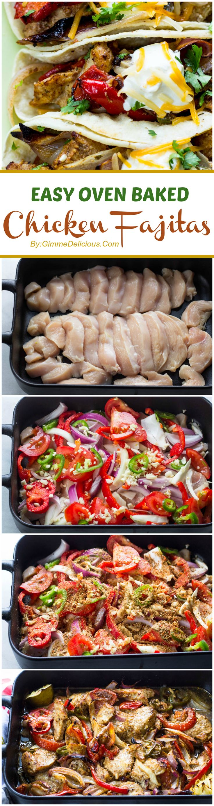 #YUMMY and EXTREMELY EASY: Oven Baked Skinny Chicken Fajitas Recipe!!!   ~XOX  #MomAndSonCookingTeam