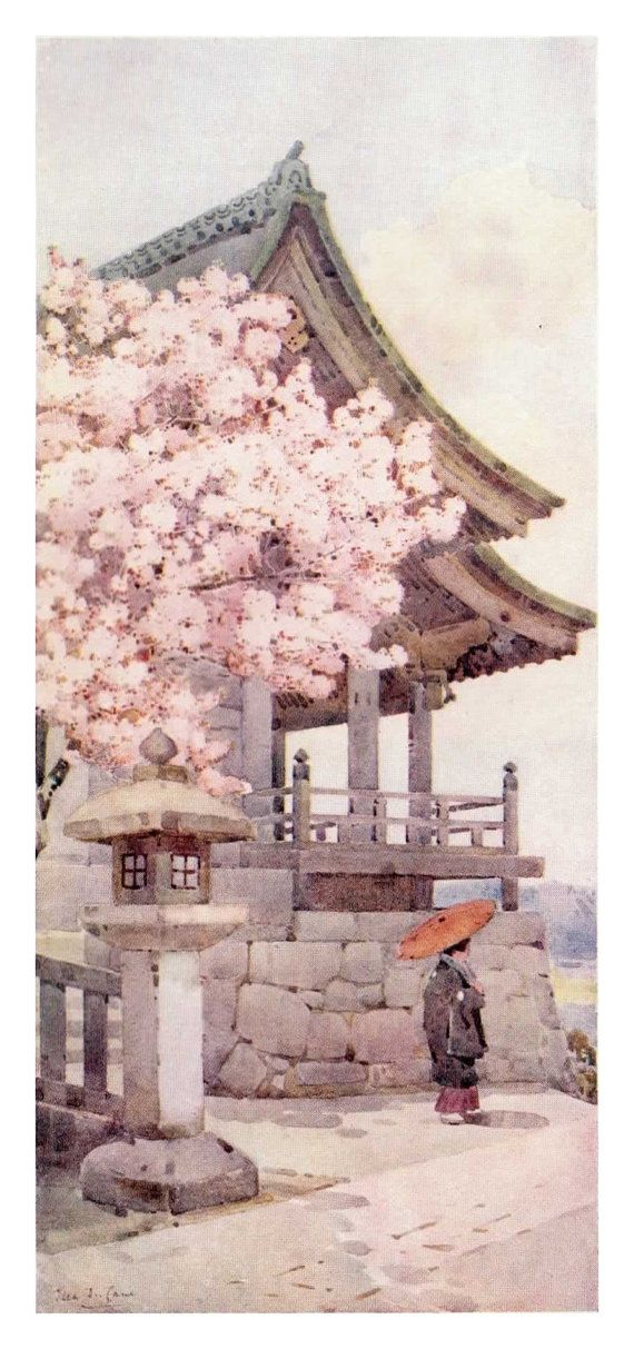 Cerisier à Kyomidzu par Ella Du Cane Vintage par RizSilverthorn, £8.99