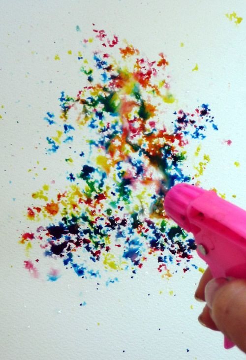 Fill A Squirt Gun With Watered Down Paint --- So wanna do this with the kiddos!