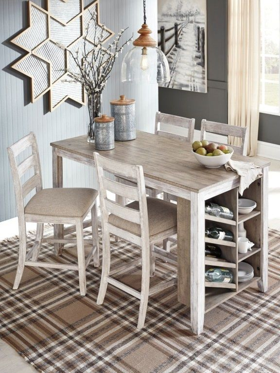 Skempton 5 Piece Rectangular Counter Table W Storage Set By
