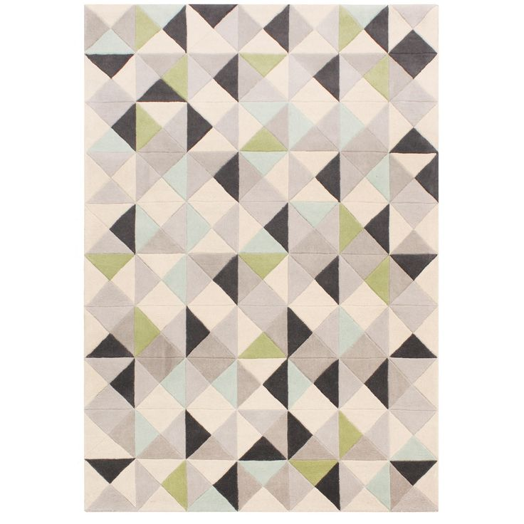 Designed by Ben de Lisi, this 'Rubik' rug captures an on-trend Scandinavian-inspired look which will suit contemporary interiors. Hand-tufted from pure wool for a delightfully soft feel, it features a bold geometric design in a mixture of muted hues with dark grey accents.