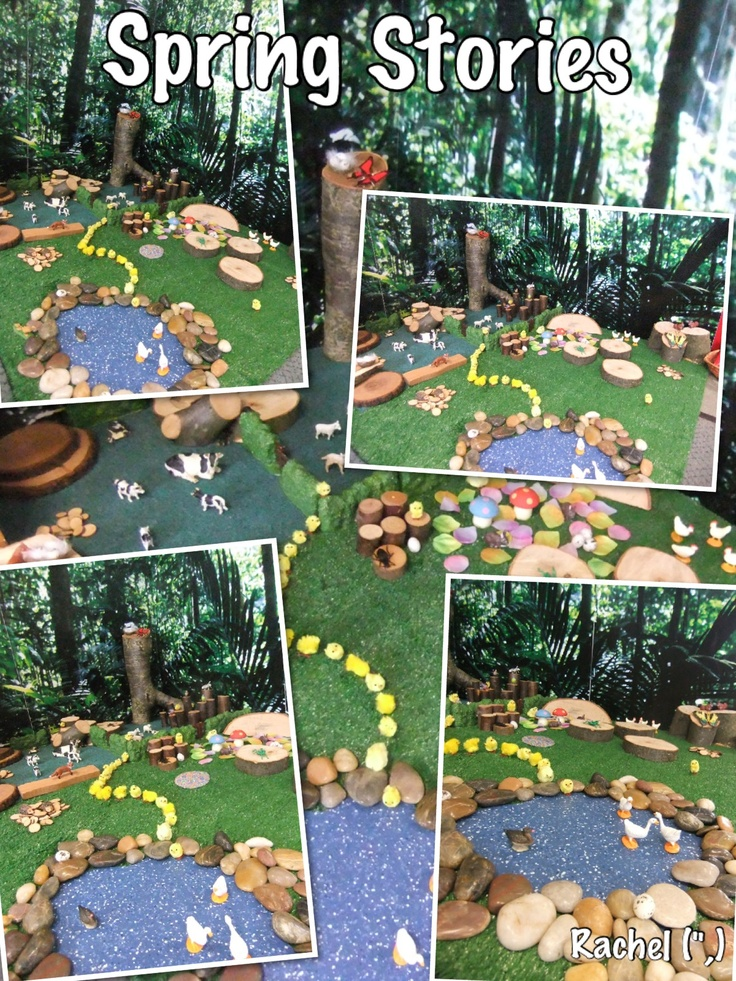 Spring Small World Play - by Rachel (