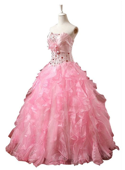 unique ball gowns unique ruffle pink ball gown