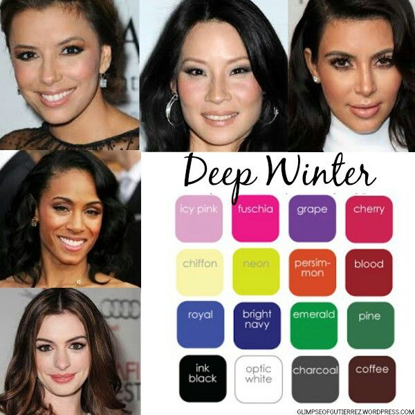 Deep winter celebrities & deep winter color pallet.