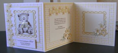 MISSY G DESIGNS: Keepsake Christening Card