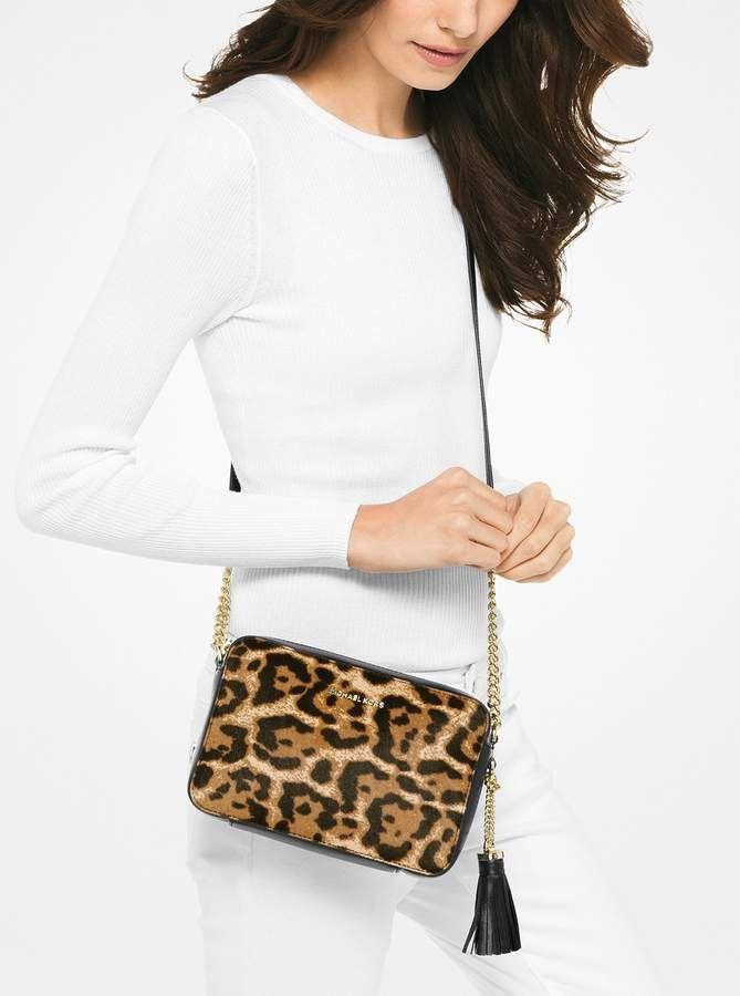 fb0a952d6886 MICHAEL Michael Kors Ginny Leopard Calf Hair Crossbody | Bags | Bags ...