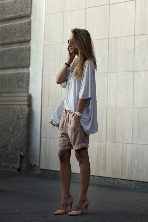 : Chic Outfits, Casual Style, Street Style, Casual Elegant, Summer Work Outfits, Summer Outfits, Casual Looks, The Sartorialist, Summer Essential