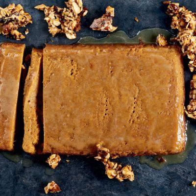 Taste Mag | Sweet potato malva pudding with nut brittle @ https://taste.co.za/recipes/sweet-potato-malva-pudding-nut-brittle/