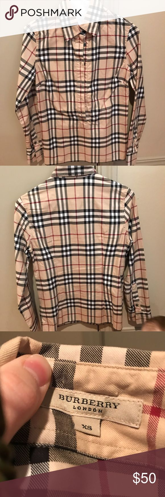Burberry London Signature Plaid Button Down Burberry London Signature Plaid Button Down. In wonderful condition. Burberry Tops Button Down Shirts
