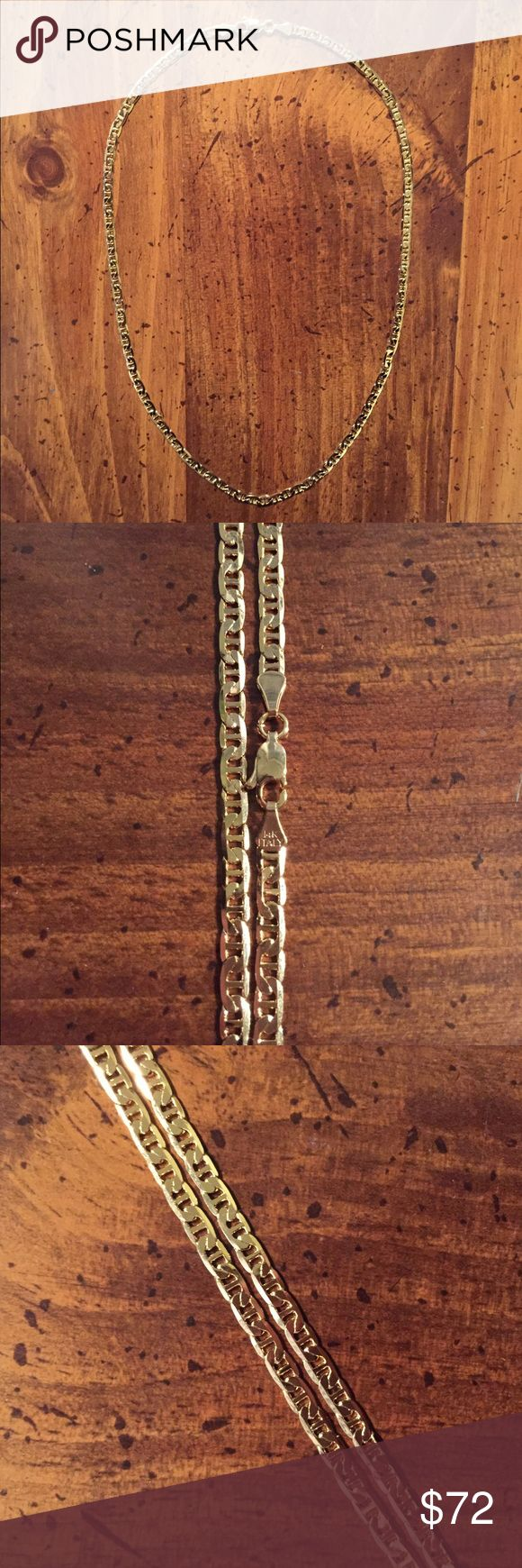 """🆕 14k Italian Gold Filled Gucci Link Chain Brand new! Gorgeous 14k Italian Gold Gucci Link 18"""" Chain. With lobster clasp and 14k ITALY stamp! Will take offers! Jewelry Necklaces"""