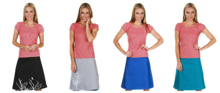 Tava 4in1 Reversible Wrap Skirt - Perfect for Travel, Super Convertible Clothing, Made in New Zealand, 100% Cotton