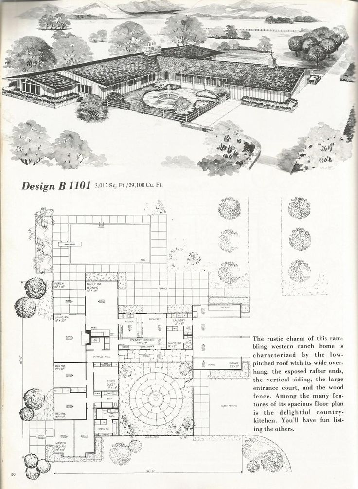 17 best images about retro dwellings on pinterest mid for Western ranch house plans